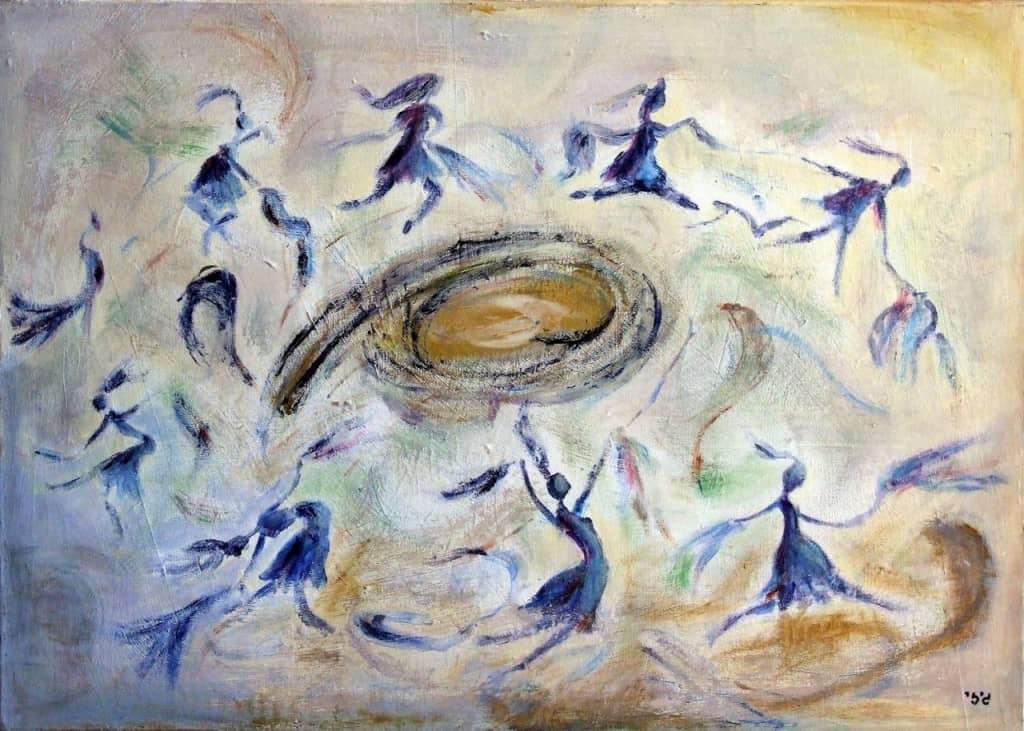 ציור של גיזי גולדשטיין
