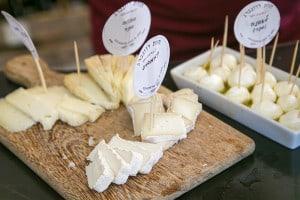 גבינות עיזים לדוגמא (צילום דני בר)