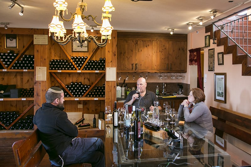 טעימת יינות בזלת הגולן (צילום דן בר-דוב)
