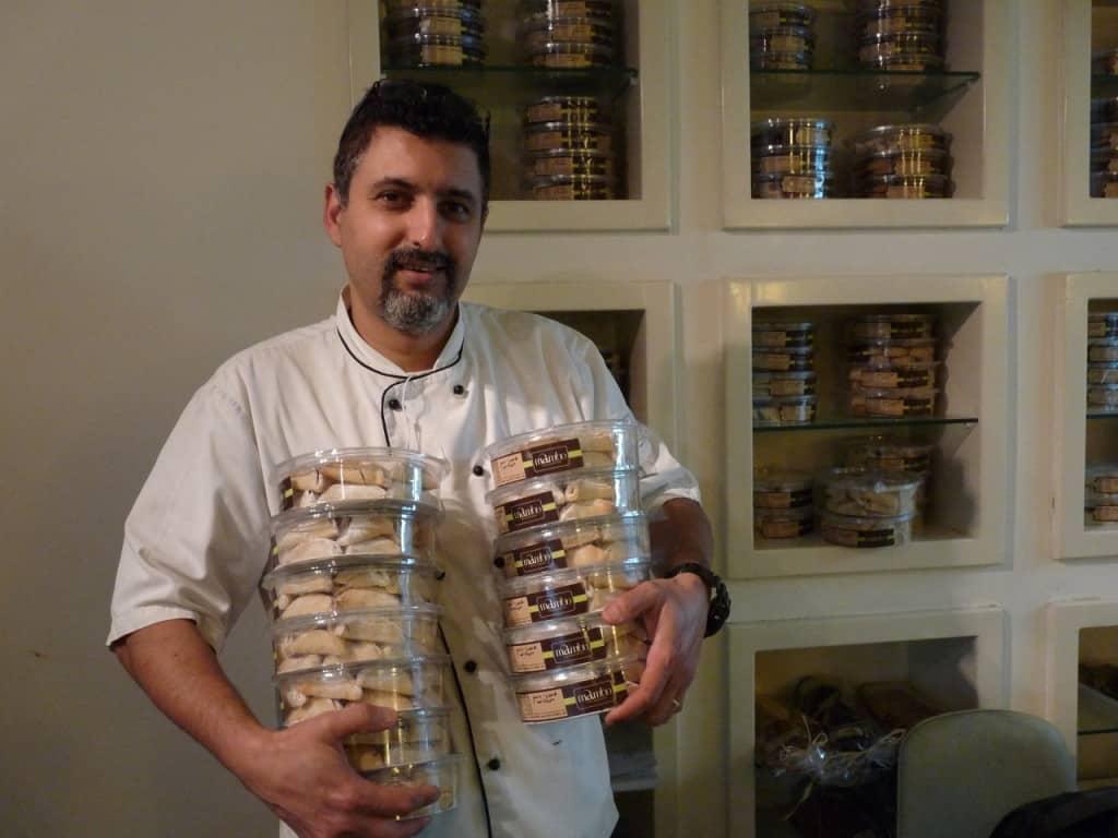 השף ברוך-חי דבח ויצירתו (צילום טל שטרן)