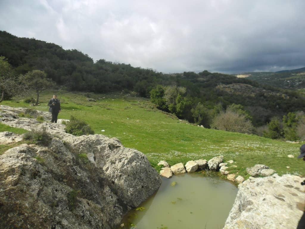 """מוצא נחל כזיב בשמורת הר מרון ע""""י בית-ג'אן (צילום דני בר)"""