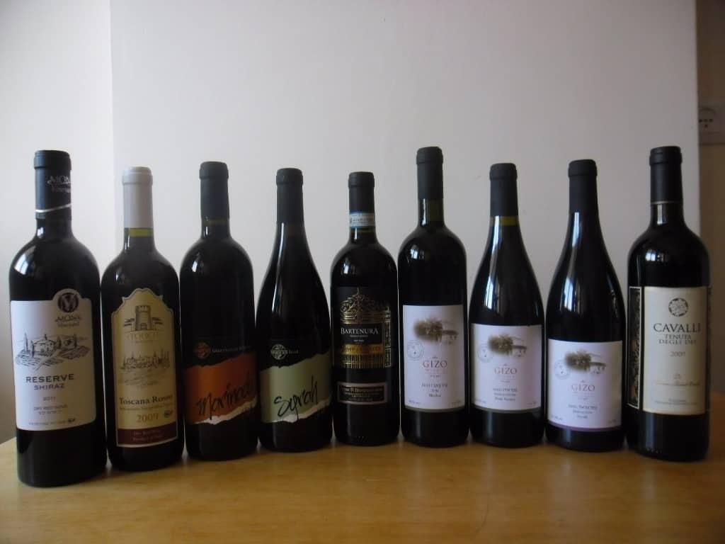 יינות אדומים 70-80 שקלים (צילום דני בר)