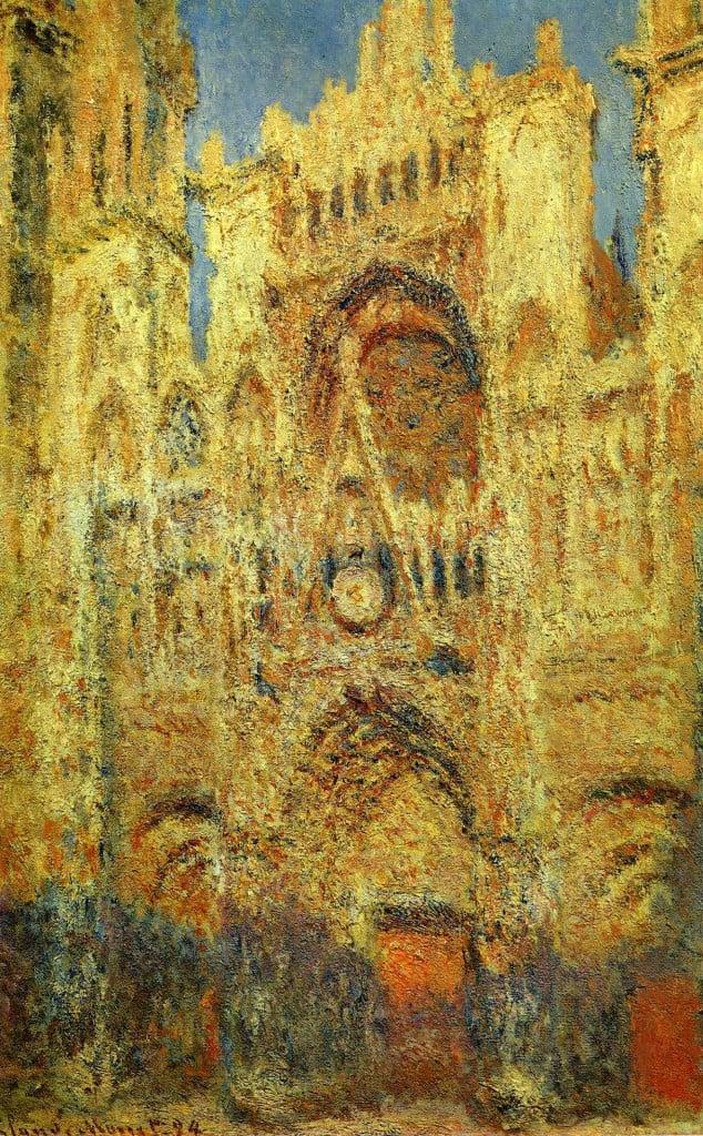 אחד ממאות ציורים של קלוד מונה- קתדלרת רואה בשקיעה (מקור: ויקיפדיה)