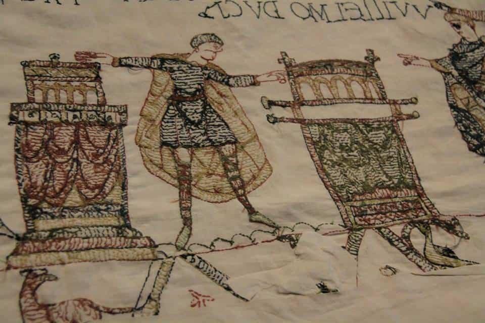 סצינת השבועה של הרולד לויליאם - שטיח BAYEUX (צילום אריאלה פלד)