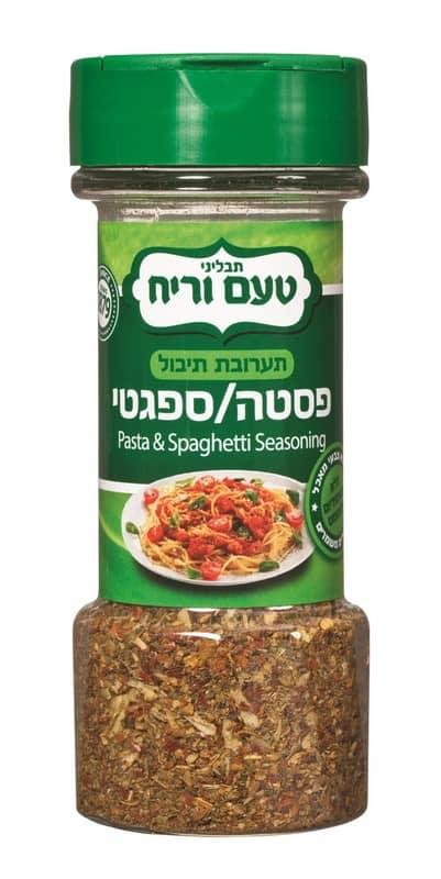 תערובת תיבול לפסטה וספגטי של תבליני טעם וריח - החל מ-8 שח ל-80 גרם. להשי...