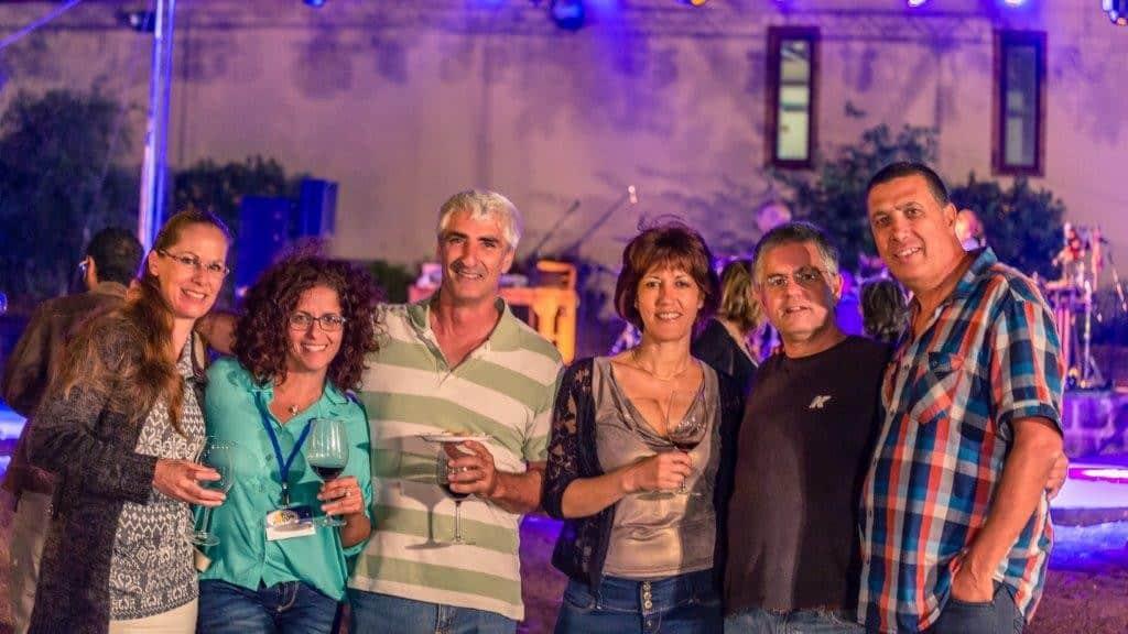 מסיבת יין בגולן (צילום מיכאל שמידט)
