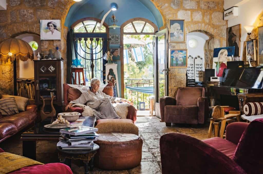 בית האמנית בריגיטה יוארי (צילום אביטל הירש)