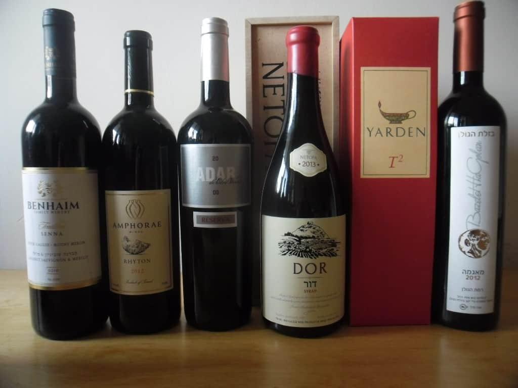מגוון יינות בלנד לראש השנה (צילום דני בר)