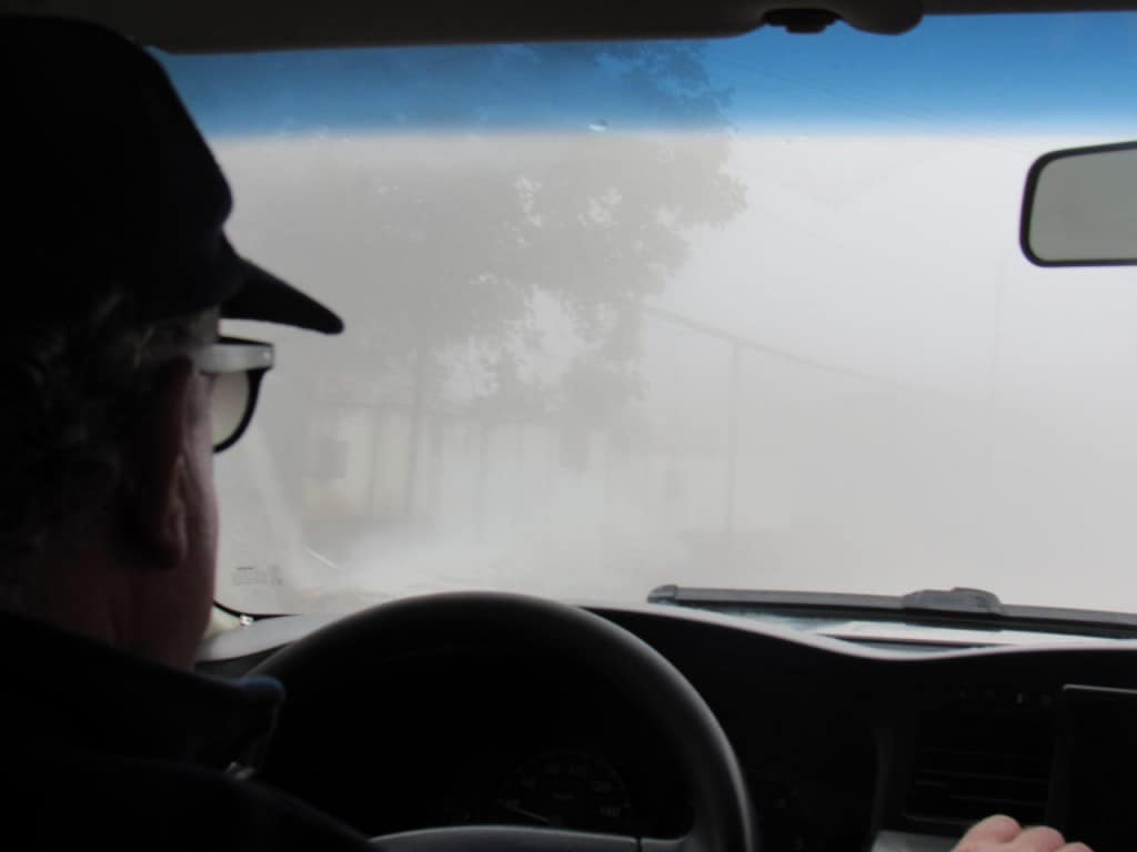 נהג המשלים עם סביבה עוינת (צילום דני בר)