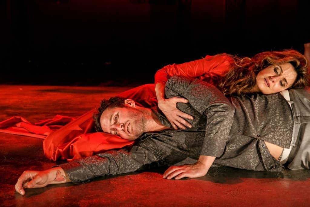 מדיאה אנסמבל עיתים בתאטרון נחמני, אנחל בונני ונילי צרויה (צילום דניאל קמינסקי)