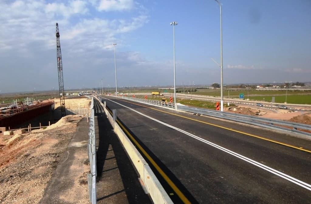 חברת נתיבי ישראל- הגשר הצפוני שנפתח לתנועה (צילום- חברת נתיבי ישראל )