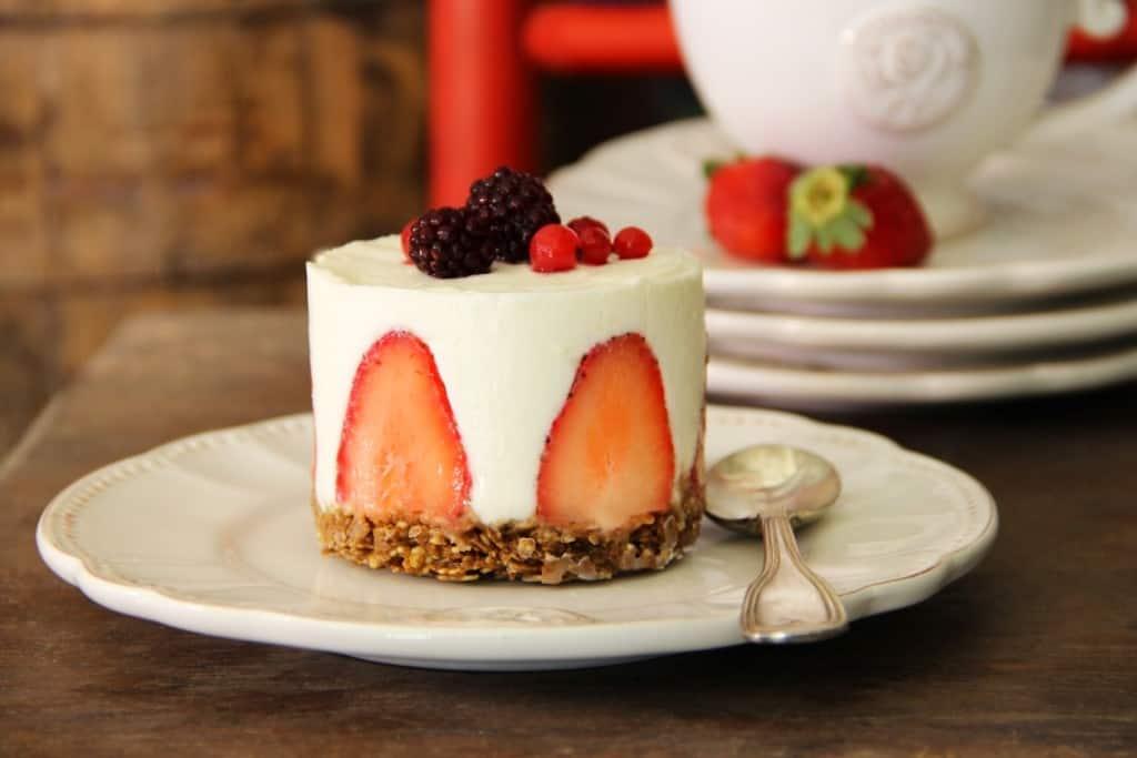 עוגת גבינה ברנפלקס (צילום ביסקוויט)