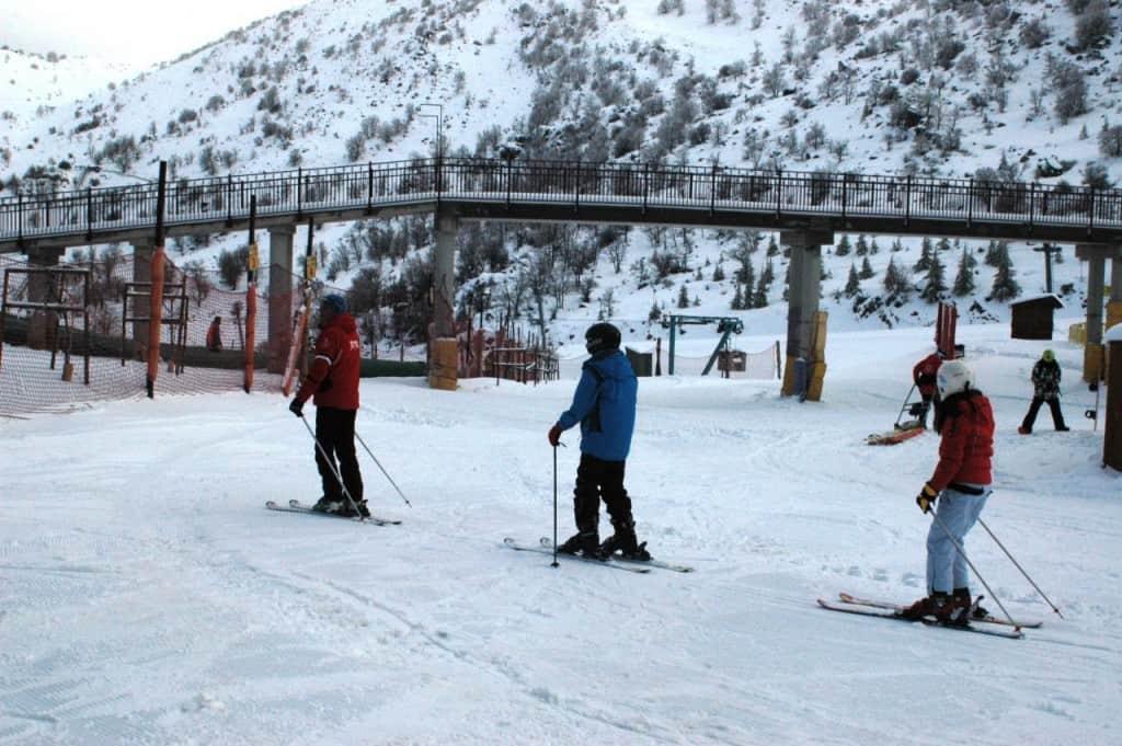 שיעור סקי באתר החרמון. (צילום אתר החרמון )