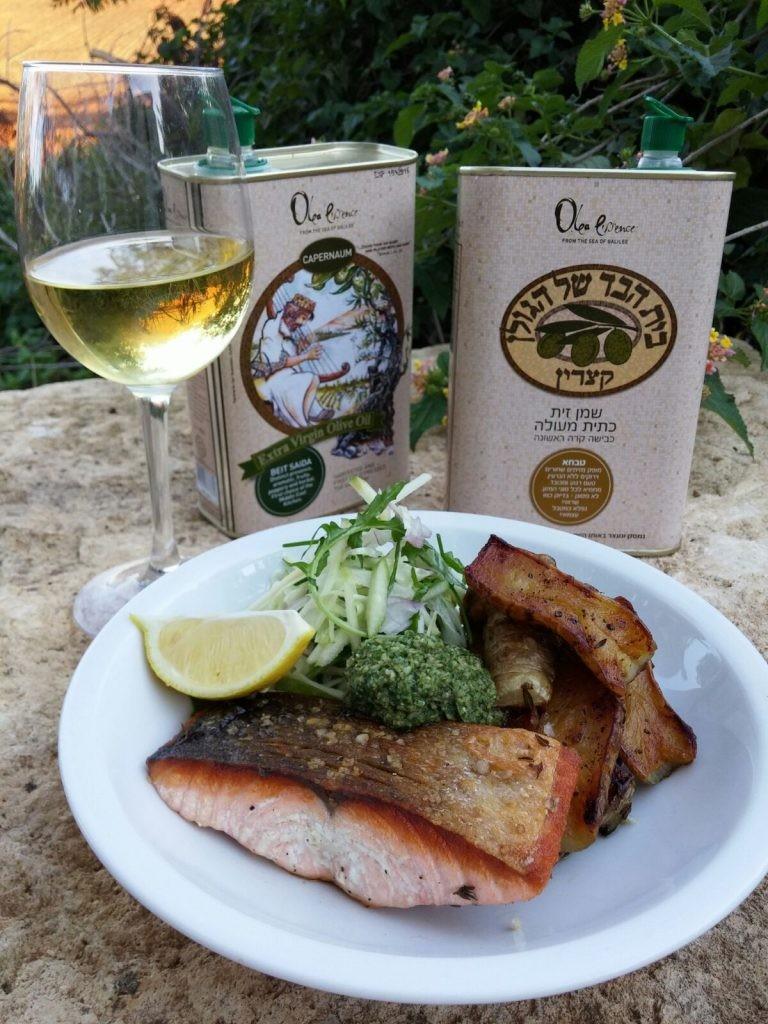 ארוחה רומנטית, שמן זית ויין (צילום אשר אידלמן)