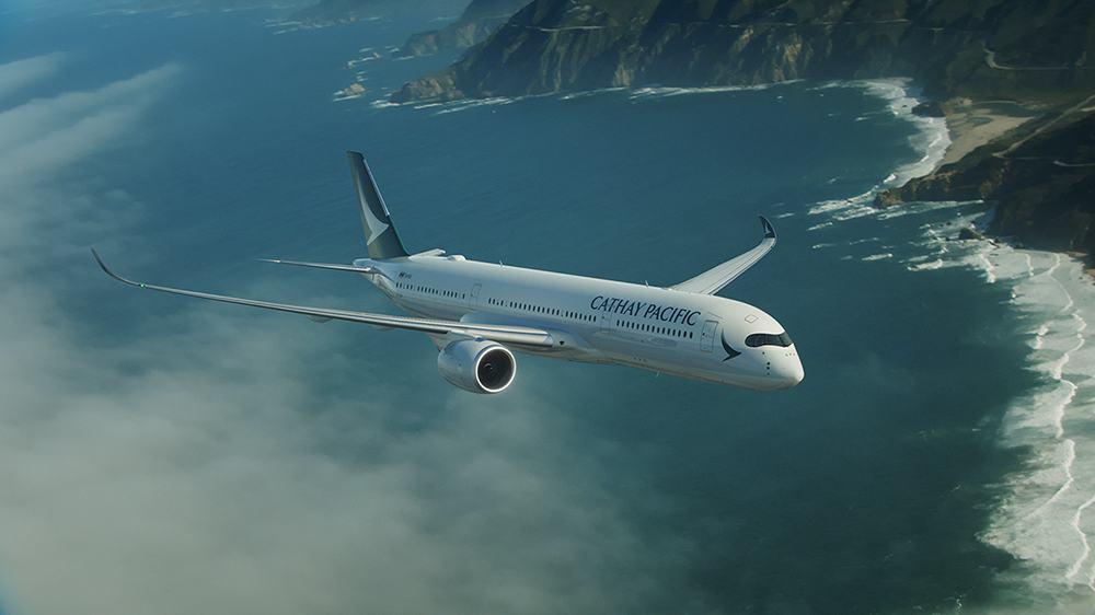 """מטוס איירבס החדש של קתי פאסיפיק (צילום יח""""צ נחו""""ל)"""