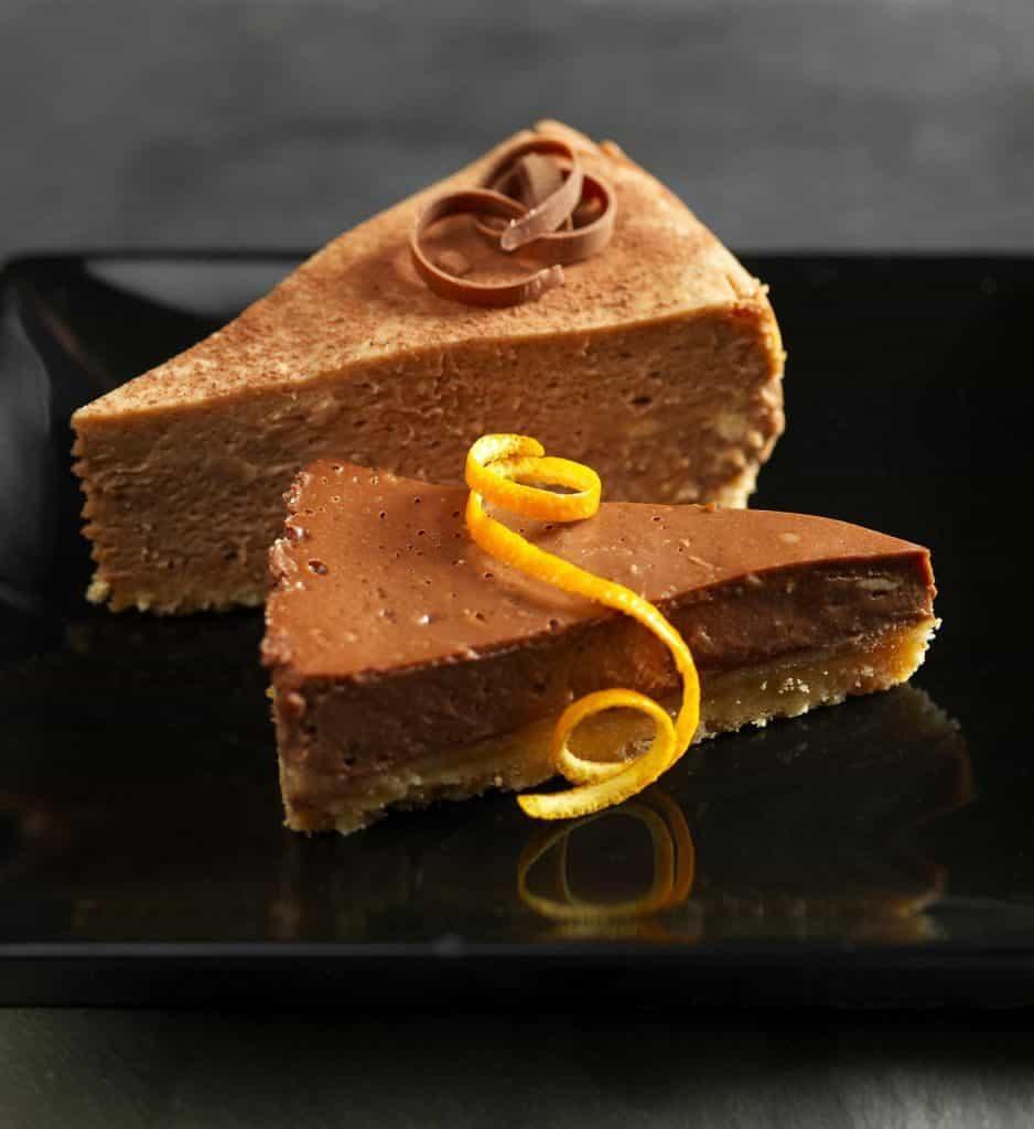 """עוגת גבינה לינדט בשילוב  שוקולד תפוז לשבועות (צילום יח""""צ חו""""ל)"""