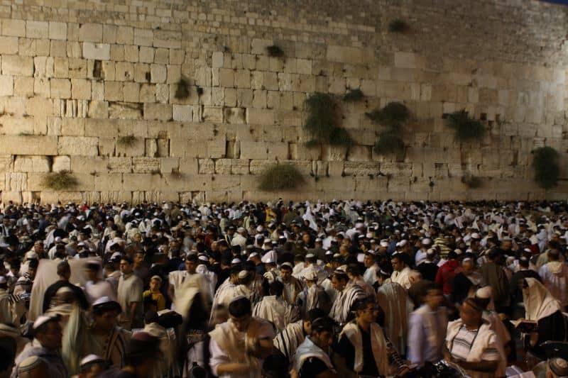 סיור סליחות מגדל דוד (צילום פיני חמו)