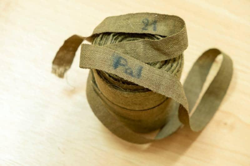 חותלות של הצבא הבריטי עשויות בד צמר משנת 1938. פרנץ שטרן היה מראשוני המתגייסים לצבא הבריטי מפלשתינה. עלה לארץ בשנת 1935