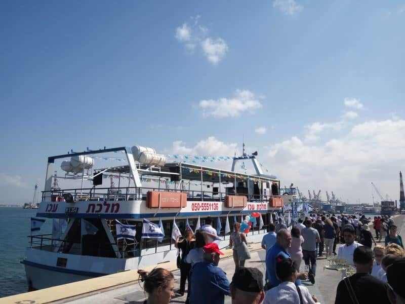מלכת עכו בנמל חיפה (צילום דני בר)