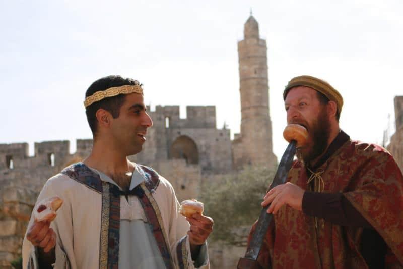 חנוכה במוזיאון מגדל דוד (צילום ריקי רחמן)