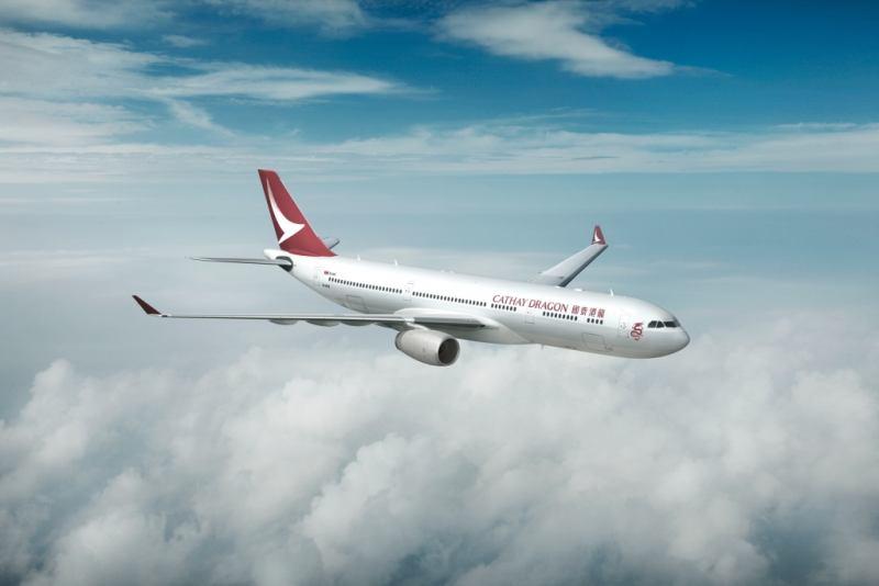 """מטוס של Cathay Dragon (צילום יח""""צ חו""""ל)"""