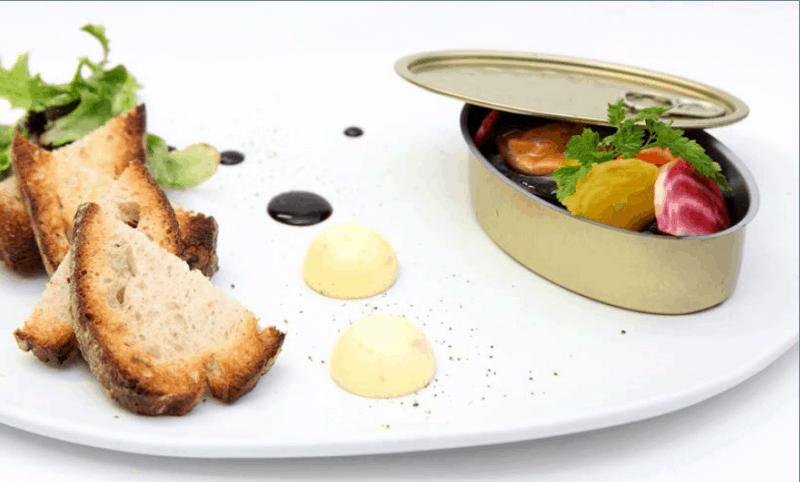 מנה צרפתית של שף Paul Courteaux (צילום פול שורטה)
