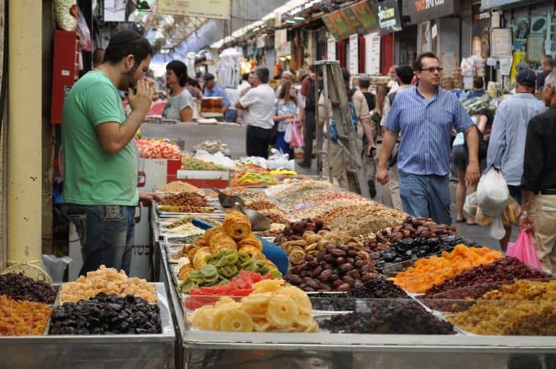 פירות יבשים במחנה יהודה (צילום יאללה באסטה)
